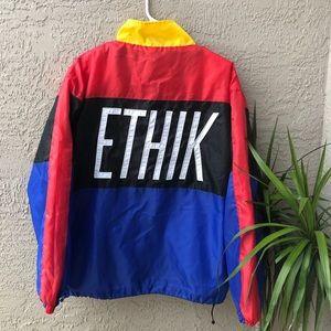 90's Ethik Clothing ColorBlock Windbreaker